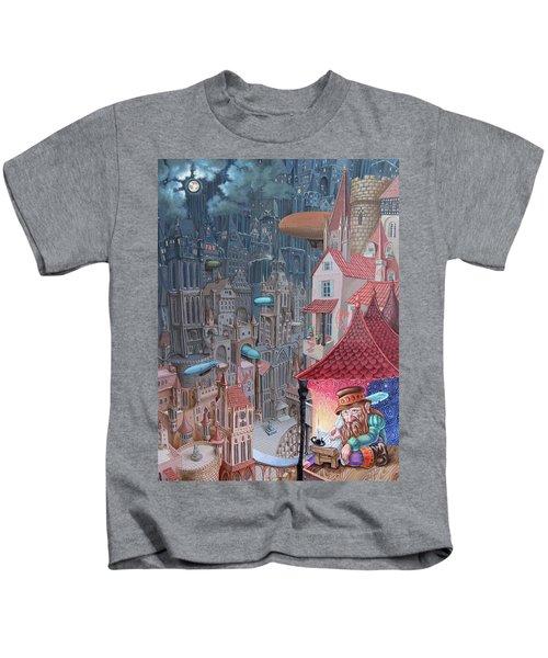 Saga Of The City Of Zeppelins Kids T-Shirt