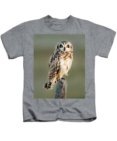 Short Eared Owl Kids T-Shirt