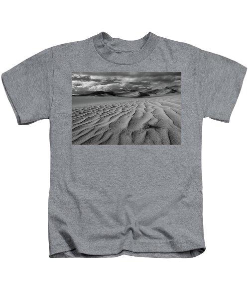 Storm Over Sand Dunes Kids T-Shirt