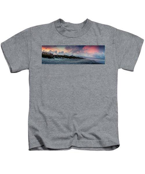 Sunset Emerald Isle Crystal Coast Kids T-Shirt