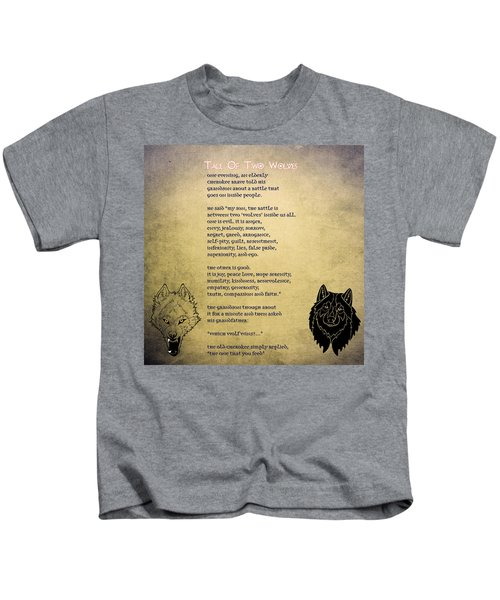 Tale Of Two Wolves - Art Of Stories Kids T-Shirt