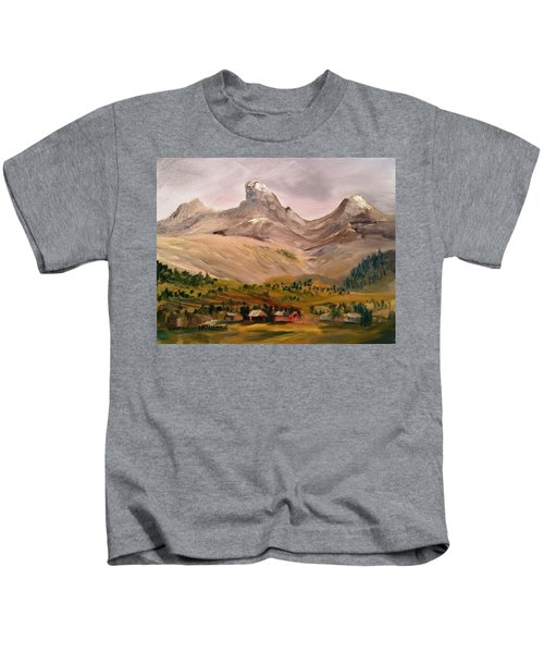 Tetons From The West Kids T-Shirt