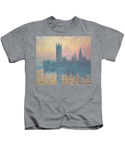The Houses Of Parliament  Sunset Kids T-Shirt