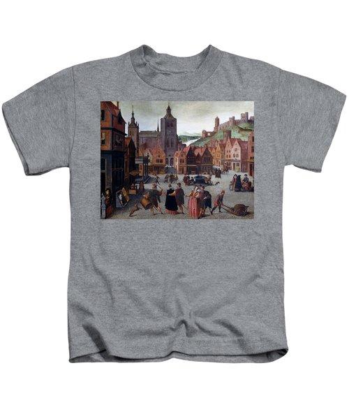 The Marketplace In Bergen Op Zoom Kids T-Shirt