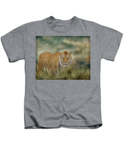 Tiger In The Grass Kids T-Shirt