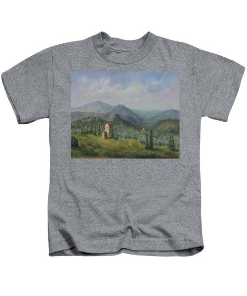 Tuscany Italy Olive Groves Kids T-Shirt