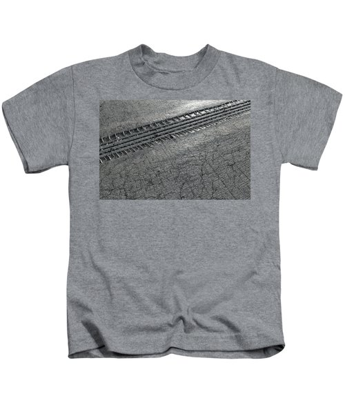 Tyre Track In The Ground Kids T-Shirt
