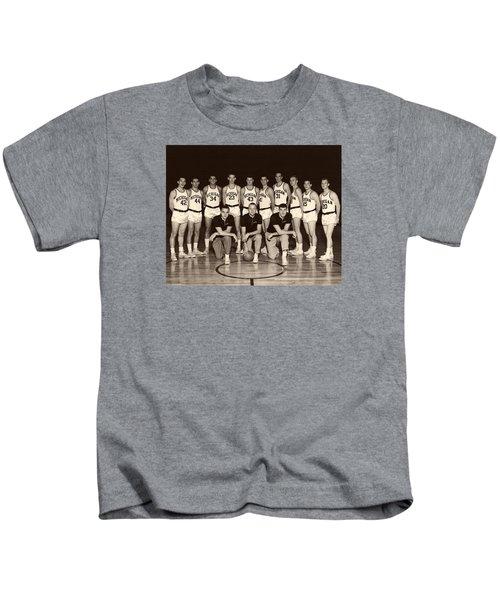 University Of Michigan Basketball Team 1960-61 Kids T-Shirt