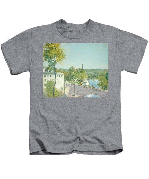 U.s. Thread Company Mills, Willimantic, Connecticut Kids T-Shirt