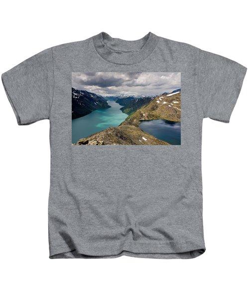 View From Besseggen Ridge Kids T-Shirt