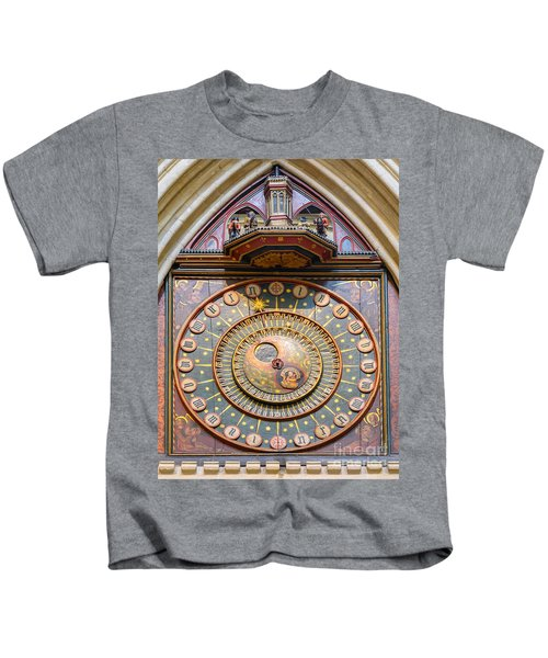 Wells Cathedral Clock Kids T-Shirt