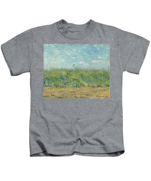 Wheatfield With Partridge Kids T-Shirt