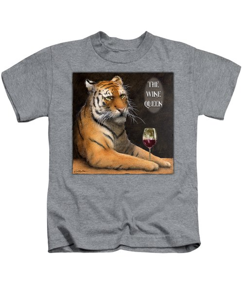 Wine Queen... Kids T-Shirt by Will Bullas