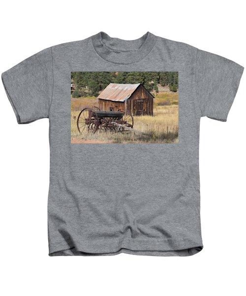 Seed Tiller - Barn Westcliffe Co Kids T-Shirt