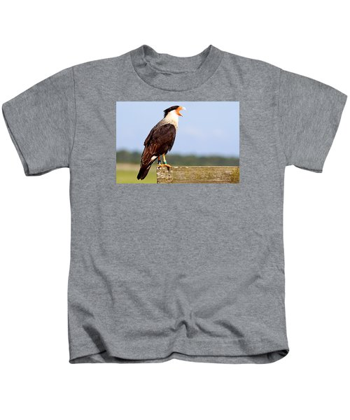 Crested Caracara Kids T-Shirt