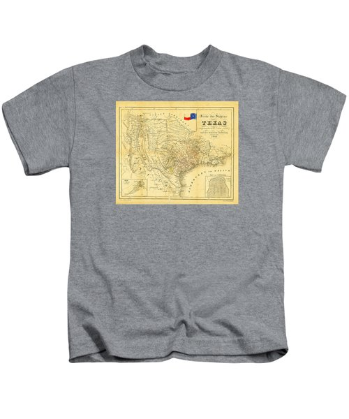 1849 Texas Map Kids T-Shirt