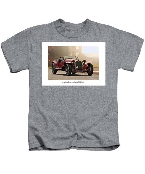 1932 Alfa Romeo 8c 2300 Mm Spider Kids T-Shirt