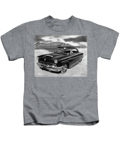 1953 Mercury Monterey On Bonneville Kids T-Shirt