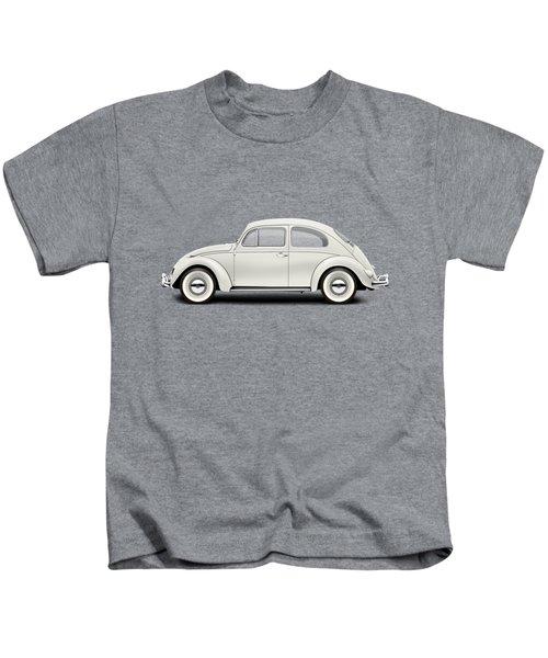 1961 Volkswagen Deluxe Sedan - Pearl White Kids T-Shirt by Ed Jackson