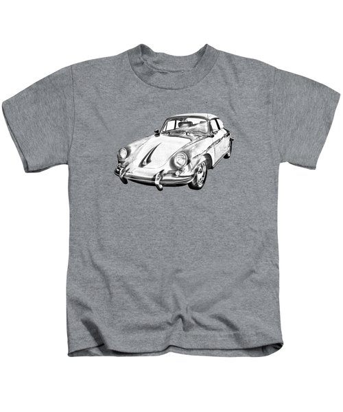 1962  Porsche 356 E Illustration Kids T-Shirt