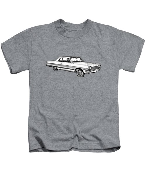 1964 Chevrolet Impala Car Illustration Kids T-Shirt