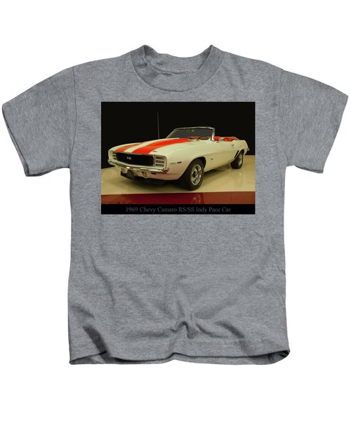 1969 Chevy Camaro Rs/ss Indy Pace Car Kids T-Shirt