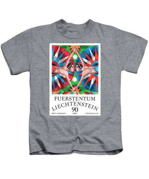 1976 Liechtenstein Gemini Postage Stamp Kids T-Shirt