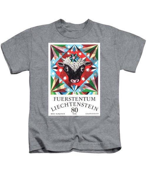 1976 Liechtenstein Taurus Postage Stamp Kids T-Shirt