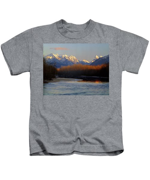 1m4525 Skykomish River And West Central Cascade Mountains Kids T-Shirt