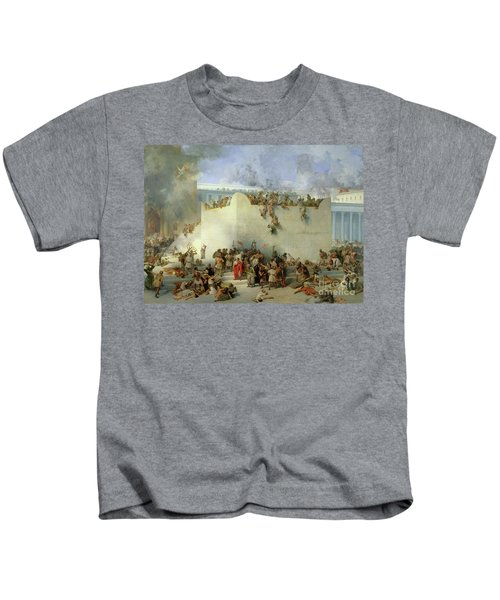 Destruction Of The Temple Of Jerusalem Kids T-Shirt