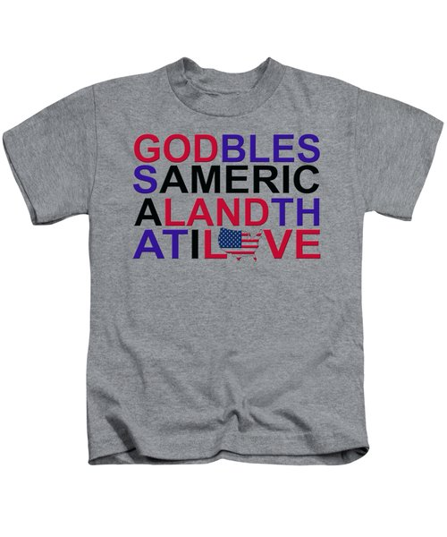 God Bless America Kids T-Shirt by Mal Bray