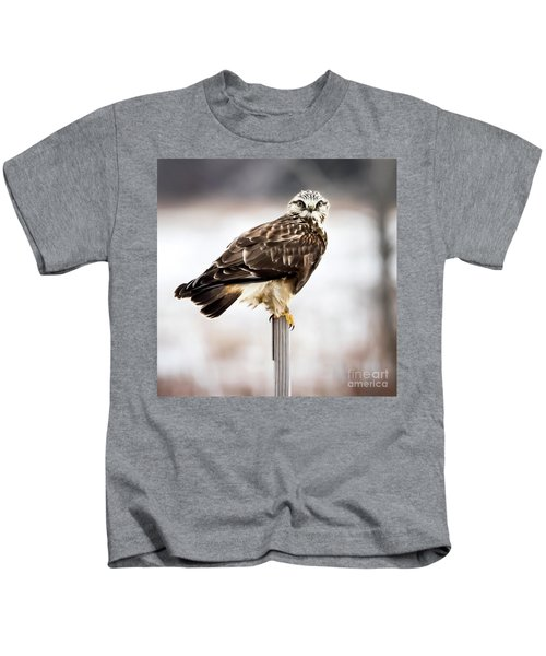 Rough-legged Hawk Kids T-Shirt