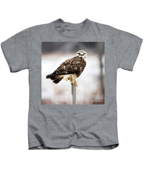 Rough-legged Hawk Kids T-Shirt