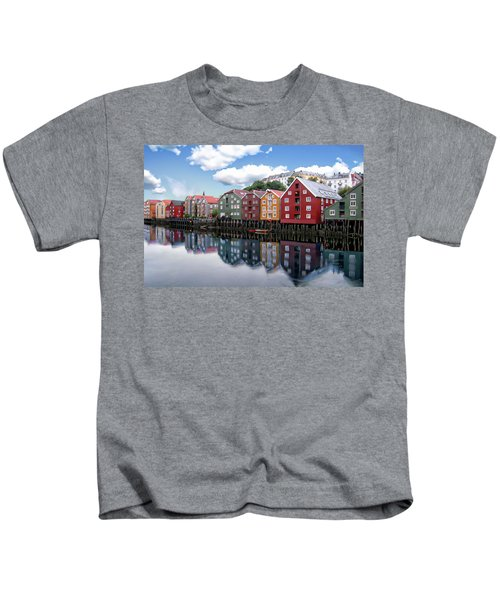 Trondheim Coastal View Kids T-Shirt