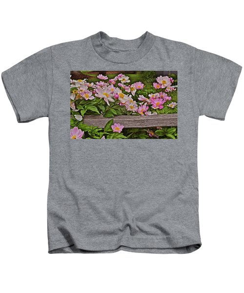 2015 Summer's Eve Front Yard Peonies 1 Kids T-Shirt