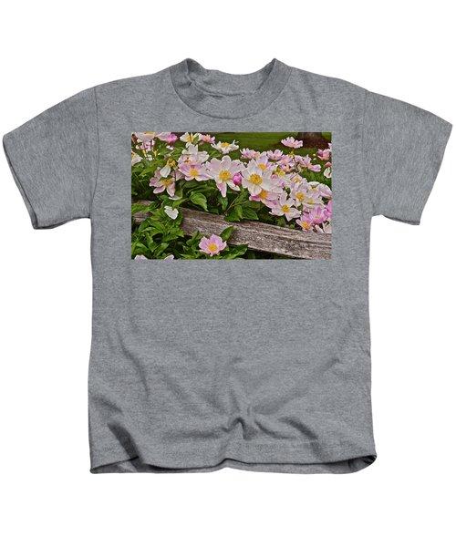 2015 Summer's Eve Neighborhood Garden Front Yard Peonies 3 Kids T-Shirt