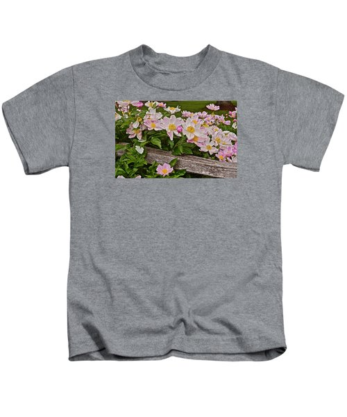 2015 Summer's Eve Neighborhood Garden Front Yard Peonies 3 Kids T-Shirt