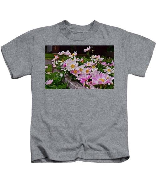 2015 Summer's Eve Neighborhood Garden Front Yard Peonies 4 Kids T-Shirt