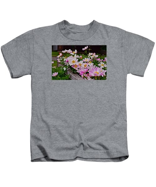 2015 Summer's Eve Neighborhood Garden Front Yard Peonies 4 Kids T-Shirt