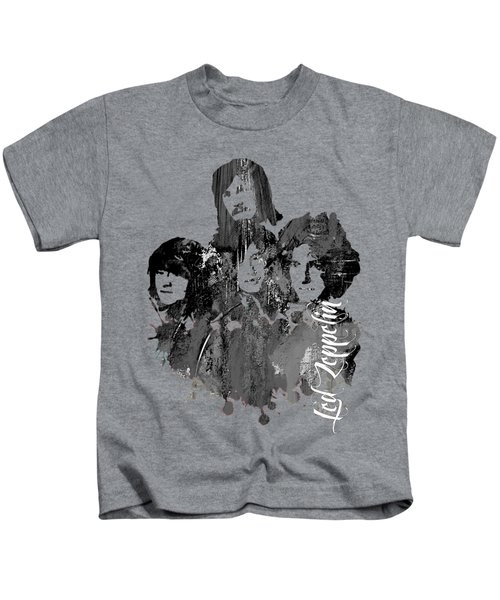 Led Zeppelin Collection Kids T-Shirt by Marvin Blaine
