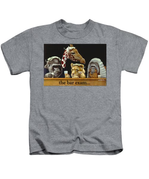 Bar Exam... Kids T-Shirt by Will Bullas