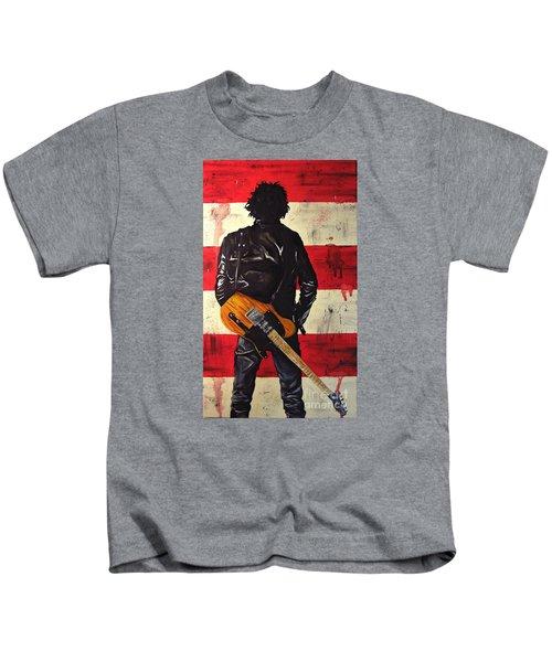 Bruce Springsteen Kids T-Shirt by Francesca Agostini