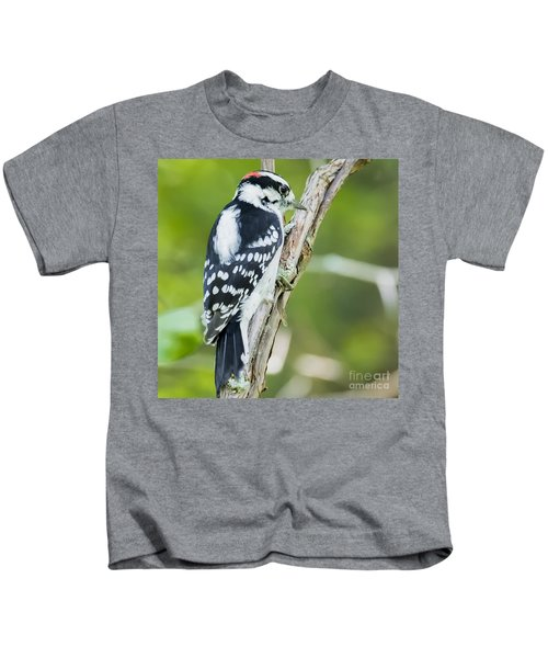 Downy Woodpecker  Kids T-Shirt