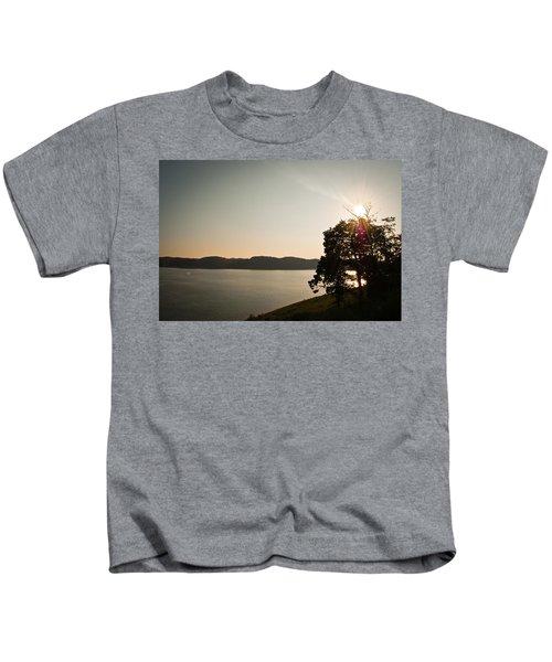 Lake Cumberland Sunset Kids T-Shirt