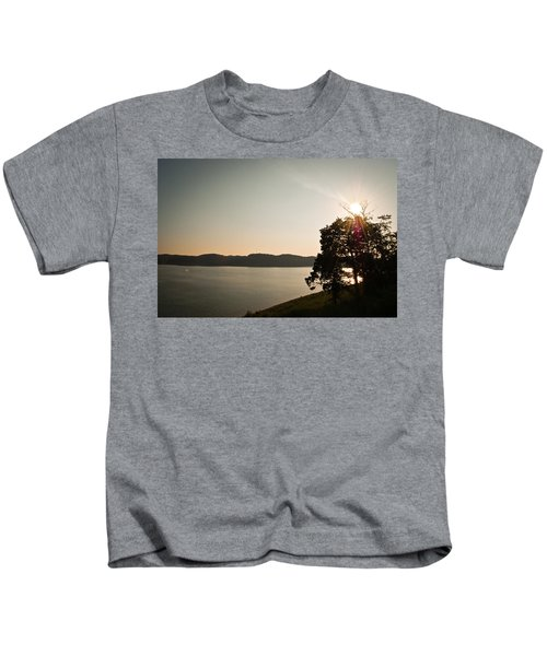 Lake Cumberland Sunset Kids T-Shirt