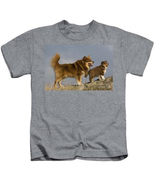 Lapinkoira Dog And His Pup Kids T-Shirt