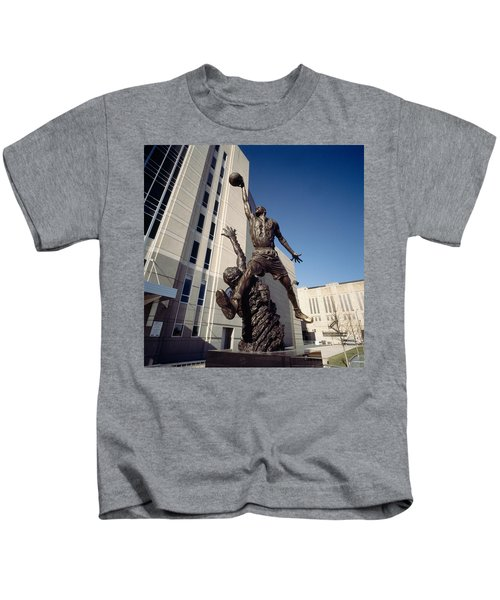 Low Angle View Of A Statue In Front Kids T-Shirt by Panoramic Images