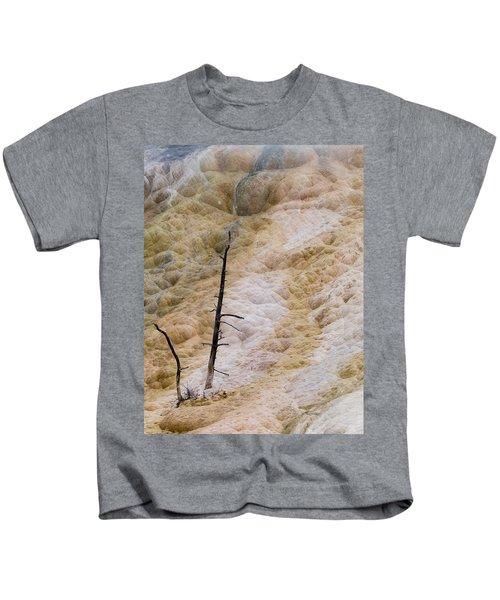 Mammoth Hot Spring Terraces Kids T-Shirt