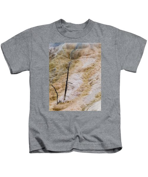 Mammoth Hot Spring Terraces Kids T-Shirt