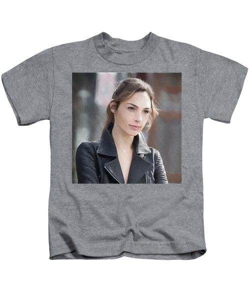 Gal Gadot Art Kids T-Shirt